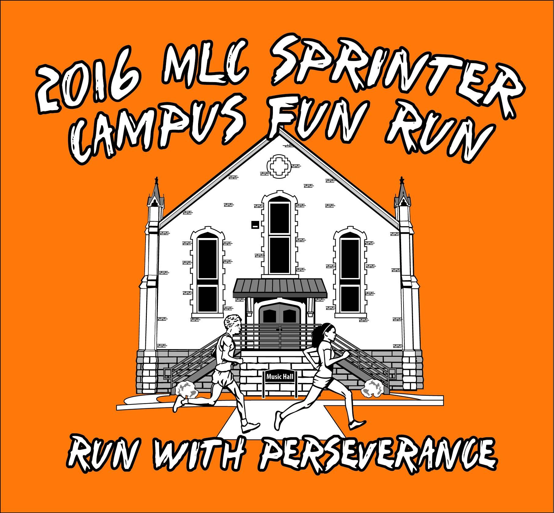 2016 Sprinter Fun Run Shirt Design